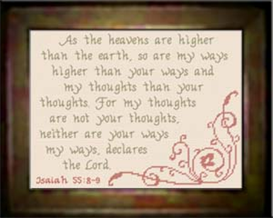 my ways higher - isaiah 55:8-9 - chart