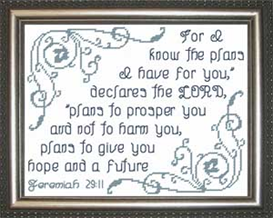 Hope and a Future - Jeremiah 29:11 | Crafting | Cross-Stitch | Religious