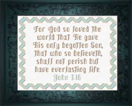 For God So Loved - John 3:16 | Crafting | Cross-Stitch | Religious