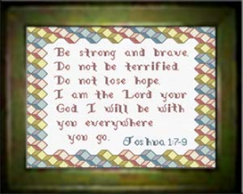 Be Strong - Joshua 1:7-9 | Crafting | Cross-Stitch | Religious