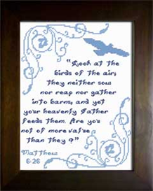 Birds of the Air | Crafting | Cross-Stitch | Religious