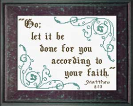 according to your faith