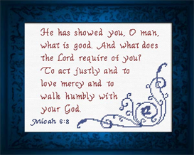 Micah 6:8 - Chart | Crafting | Cross-Stitch | Religious