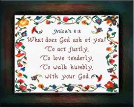 justly tenderly  humbly