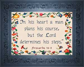 The Lord Determines | Crafting | Cross-Stitch | Other