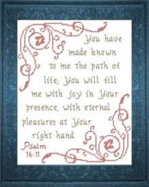 joy in your presence - psalm 16:11 - chart