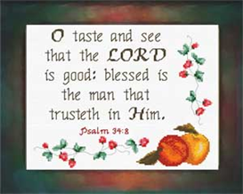 Taste and See | Crafting | Cross-Stitch | Religious