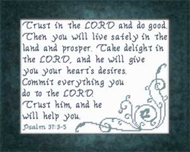 Trust in The LORD | Crafting | Cross-Stitch | Religious