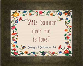 Banner of Love Chart | Crafting | Cross-Stitch | Religious