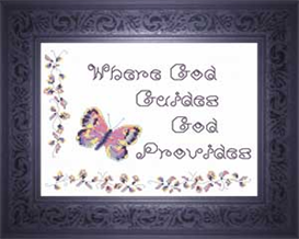 Where God Guides - Quote | Crafting | Cross-Stitch | Religious