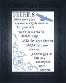 Dreams - Quote | Crafting | Cross-Stitch | Religious