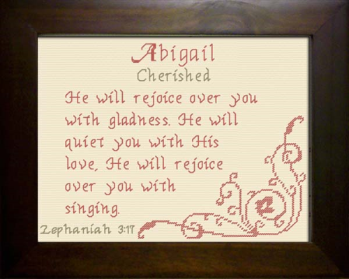 First Additional product image for - Name Blessing - Abigail 2
