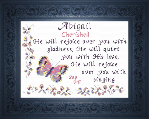 First Additional product image for - Name Blessing - Abigail 3
