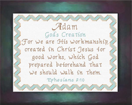 Name Blessings - Adam | Crafting | Cross-Stitch | Other