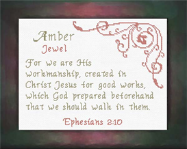Name Blessings - Amber | Crafting | Cross-Stitch | Religious