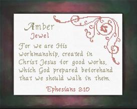 name blessings - amber