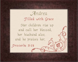 Name Blessings - Andrea | Crafting | Cross-Stitch | Religious