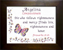 Name Blessing - Angelina   Crafting   Cross-Stitch   Religious
