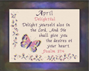 Name Blessings - April | Crafting | Cross-Stitch | Religious