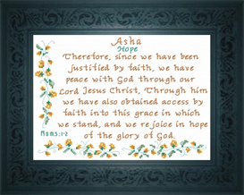 Name Blessing - Asha | Crafting | Cross-Stitch | Religious