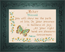 Name Blessing - Asher   Crafting   Cross-Stitch   Religious