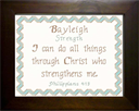 Name Blessing - Bayleigh 2 | Crafting | Cross-Stitch | Religious
