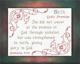Name Blessings - Beth | Crafting | Cross-Stitch | Other