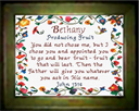 Name Blessings - Bethany - Chart | Crafting | Cross-Stitch | Religious