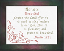 Name Blessings - Bonnie   Crafting   Cross-Stitch   Religious