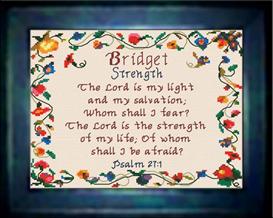 name blessings - bridget