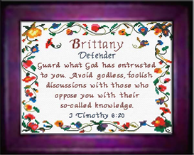 name blessings - brittany - chart