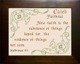 Name Blessing - Caleb 3 | Crafting | Cross-Stitch | Religious