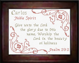 Name Blessings - Carlos | Crafting | Cross-Stitch | Other