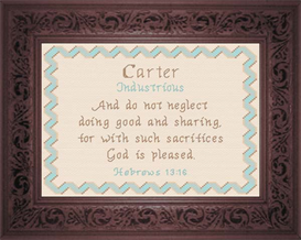 Name Blessings - Carter | Crafting | Cross-Stitch | Religious