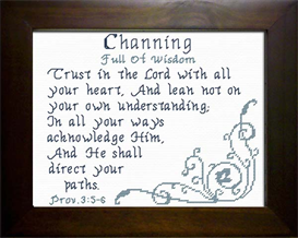 Name Blessings - Channing | Crafting | Cross-Stitch | Religious