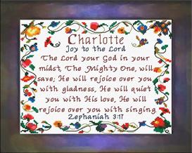 name blessings - charlotte