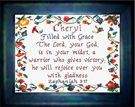 Name Blessings - Cheryl | Crafting | Cross-Stitch | Religious