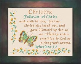 name blessings - christine