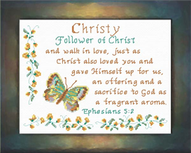 Name Blessings - Christy | Crafting | Cross-Stitch | Religious