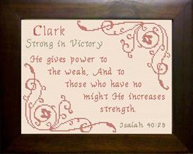 name blessings - clark