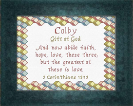 Name Blessings - Colby | Crafting | Cross-Stitch | Other