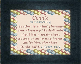 Name Blessing - Connie | Crafting | Cross-Stitch | Religious