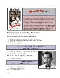 casablanca, whole-movie english (esl) lesson
