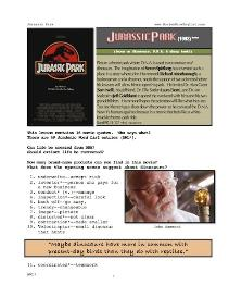 jurassic park, whole-movie english (esl) lesson