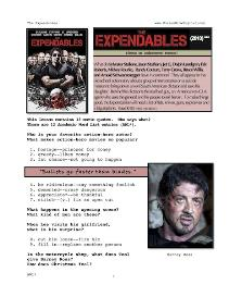 expendables, whole-movie english (esl)  lesson