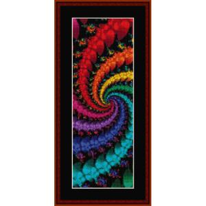 fractal 332 bookmark cross stitch pattern by cross stitch collectibles