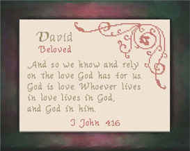 Name Blessings - David | Crafting | Cross-Stitch | Other