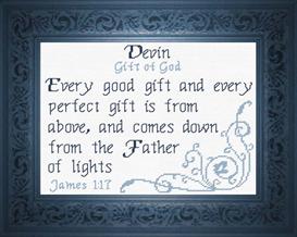 name blessings - devin