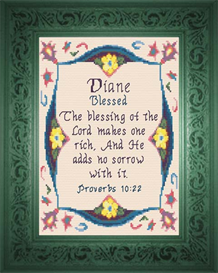 name blessings - diane