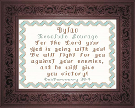 Name Blessing - Dylan | Crafting | Cross-Stitch | Religious